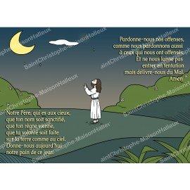 Magnetische Gebetskarte - Postformat