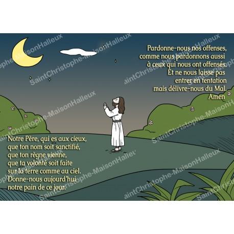 Carte aimantée prière - format postal
