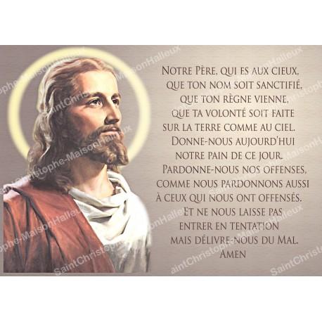 Magnetic prayer card - postal format