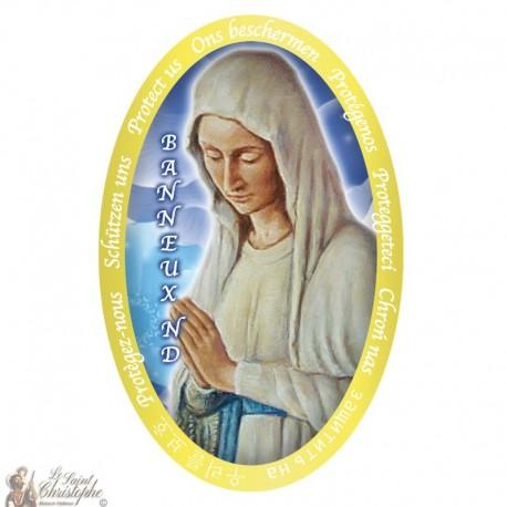 Stickers Vierge des Pauvres de Banneux N.D - 4.5 x 7.5 cm