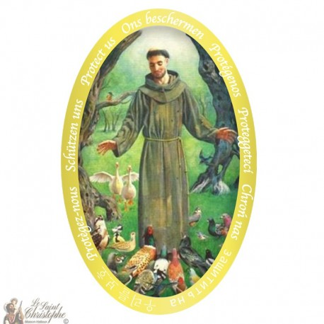 Sticker Sint Franciscus van Assisi