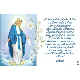 Carte Postale Vierge Miraculeuse prière - aimantée