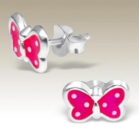 Pink Butterflies Earrings - Silver 925