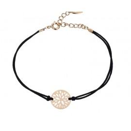 Bracelet fleur élégant - plaqué or 18 K