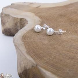 Boucles d'oreilles Perles nacrées - Argent 925