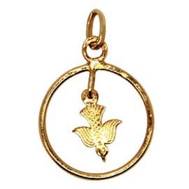 Pendentif colombe de la paix - plaqué or