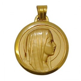Médaille Vierge Marie - Plaqué or