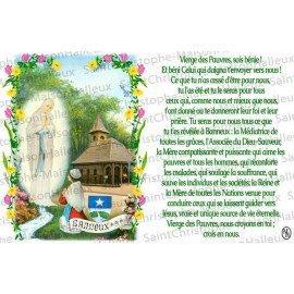 Scheda Vergine dei Poveri di Banneux N.D. preghiera - magnete