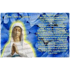 Tarjeta de la Virgen de los Pobres de Banneux N.D. oración - imán