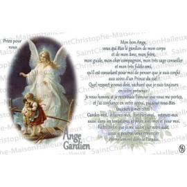 Carte postale Ange Gardien prière - aimantée