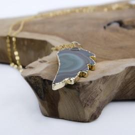 Pendentif - Collier pierre d'Agate Aile d'Ange