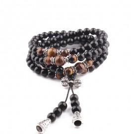 Bracelet Bouddhiste en Obsidienne - Spirituel