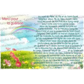 Carte postale Merci pour la guérison prière - aimantée