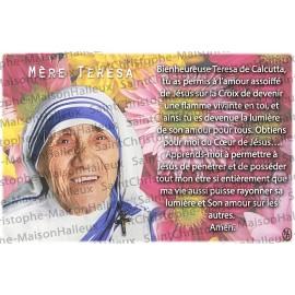 Cartolina Madre Teresa preghiera - magnetica