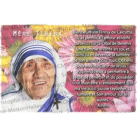 Carte postale Mère Teresa prière - aimantée