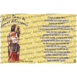 Carte postale Notre Dame de la Délivrance prière - aimantée