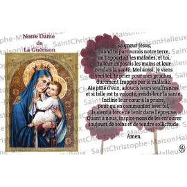 Carte postale Notre Dame de la Guérison prière - aimantée