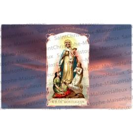 Cartolina Madonna di Montligeon - magnetica
