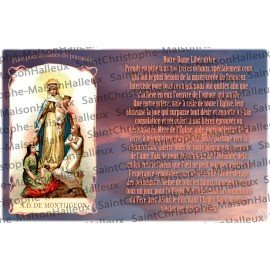 Postcard Our Lady of Montligeon prayer - magnetic