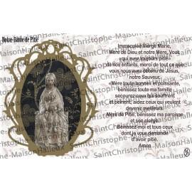Cartolina Nostra Signora della Misericordia preghiera - magnetico