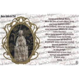 Postcard Our Lady of Mercy prayer - magnetic