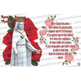 Carte postale Notre Dame des roses prière - aimantée