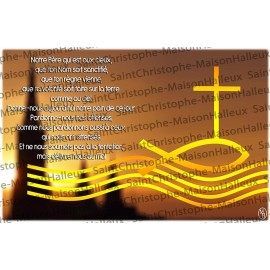 Carte postale Notre Père prière - aimantée
