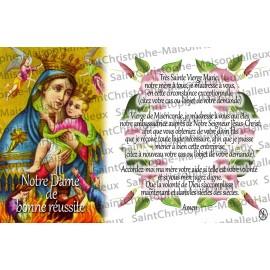 Carte postale Notre Dame de bonne réussite prière - aimantée