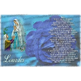 Postcard Our Lady of Lourdes prayer - magnetic