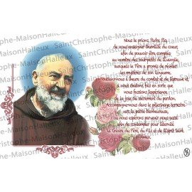 Postcard Padre Pio prayer - magnetic