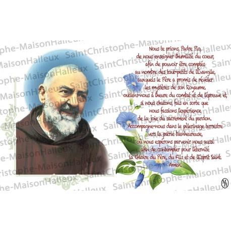 Carte postale Padre Pio prière - aimantée