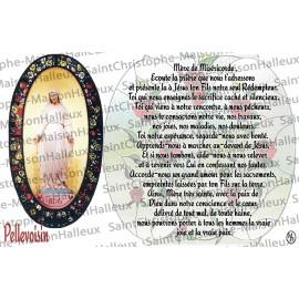 Carte postale Notre Dame de Pellevoisin prière - aimantée