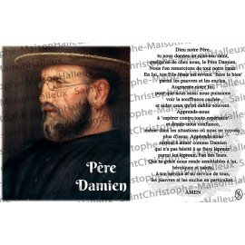 Postcard Father Damien prayer - magnetic