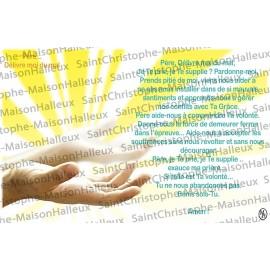 Carte postale Père délivre moi du mal prière - aimantée