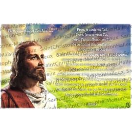 Carte postale Père donne nous ton Amour prière - aimantée