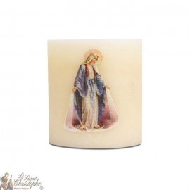 Bougie parfumée et colorée dans la masse à la Vierge Miraculeuse