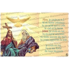 Carte postale Père,  Jésus et Saint Esprit prière - aimantée