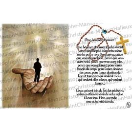 Carte postale Père bénissez et sauvez prière - aimantée