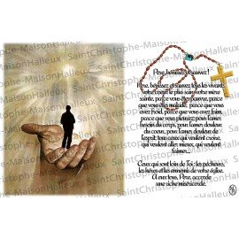 Postcard Father bless and save prayer - magnetic