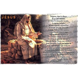 Postcard Jesus prayer - magnetic