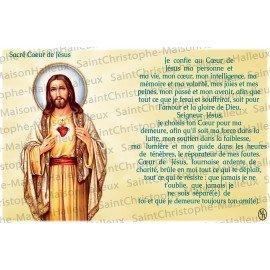 Postcard Sacred Heart of Jesus prayer - magnetic