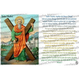 Postcard Saint Andrew prayer - magnetic