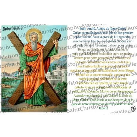 Carte postale Saint André prière - aimantée