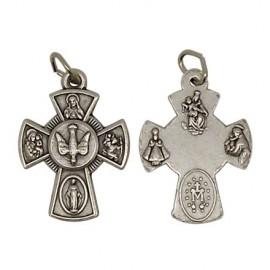 Pendentif croix à l'Esprit Saint et aux Saints protecteurs