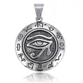 Pendentif oeil Horus - acier inoxydable