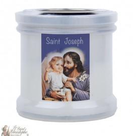 Kaarsen om de heilige Jozef te bedanken