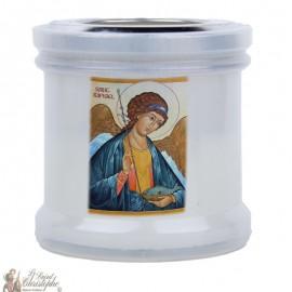 Kaarsen om de heilige Rafaël te bedanken