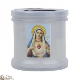 Bougies veilleuses de remerciement au Sacré Coeur de Marie