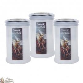 Bougies veilleuses de remerciement à Saint Michel