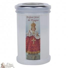 Bougies veilleuses de remerciement au Petit Jésus de Prague